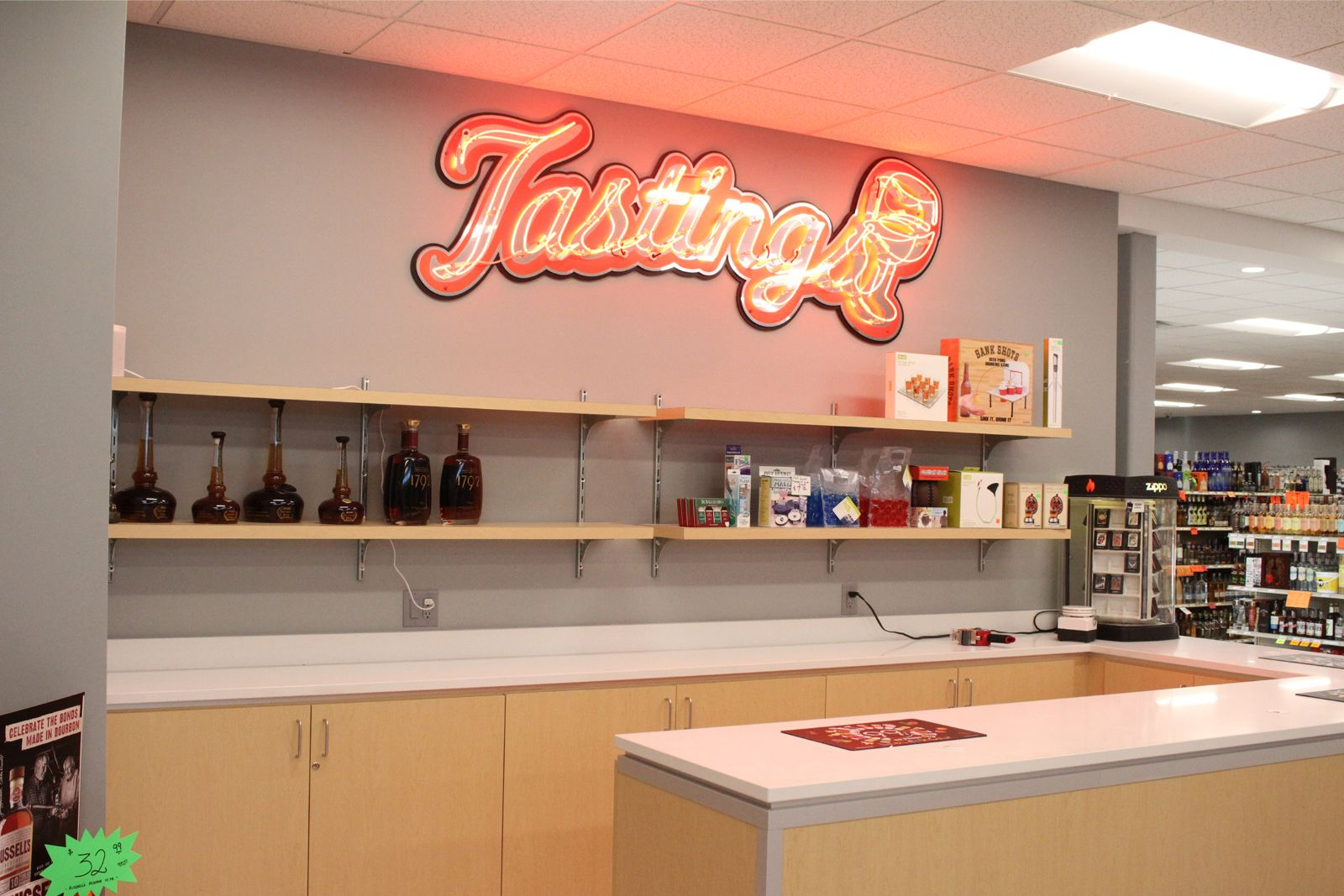 R & J Discount Liquor Tasting Counter