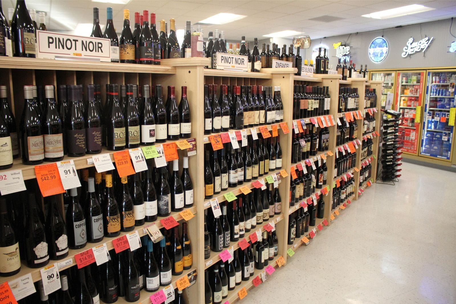 R & J Discount Liquor Wine Selection
